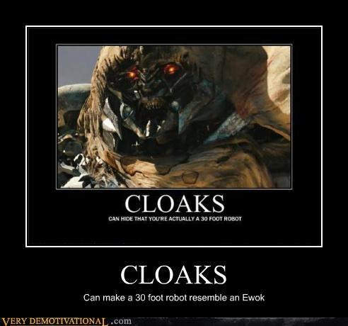 cloaks,ewok,hilarious,megatron,transformers