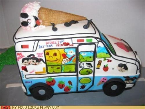cake,ice cream truck,Music,treat,truck