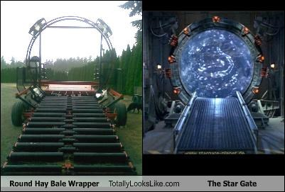Round Hay Bale Wrapper Totally Looks Like The Star Gate