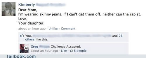 Challenge Accepted,mom,sexual assault,skinny jeans
