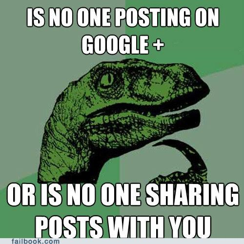 Philosoraptor: Google+ Popularity