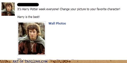 facebook,frodo,harry,Harry Potter,Lord of the Rings