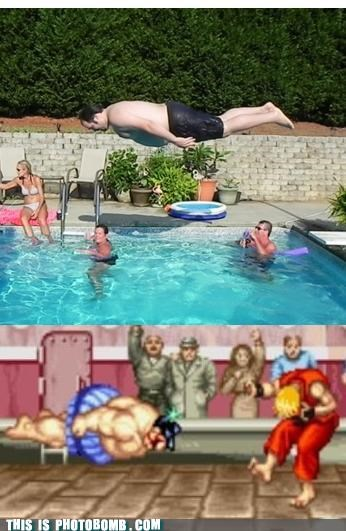 e honda,headbutt,ken,Planking,pool,Street fighter,sumo