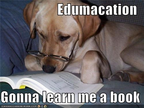 Edumacation  Gonna learn me a book