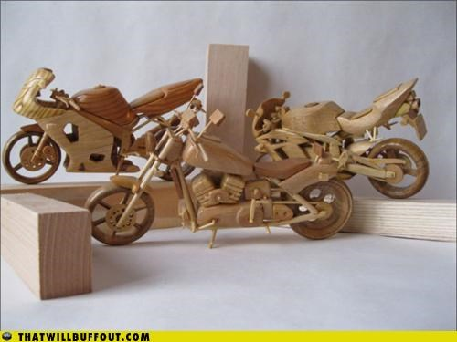 Cool Thing: Miniature Wooden Motorcycles