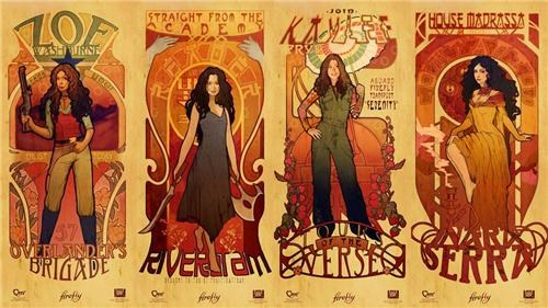 Firefly Art Nouveau Prints of the Day