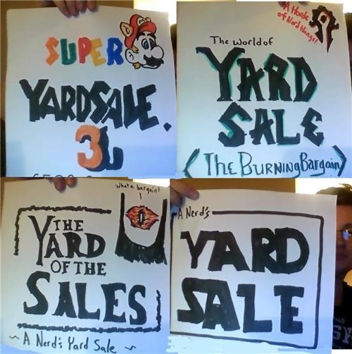 Yard Sale Signs of the Day