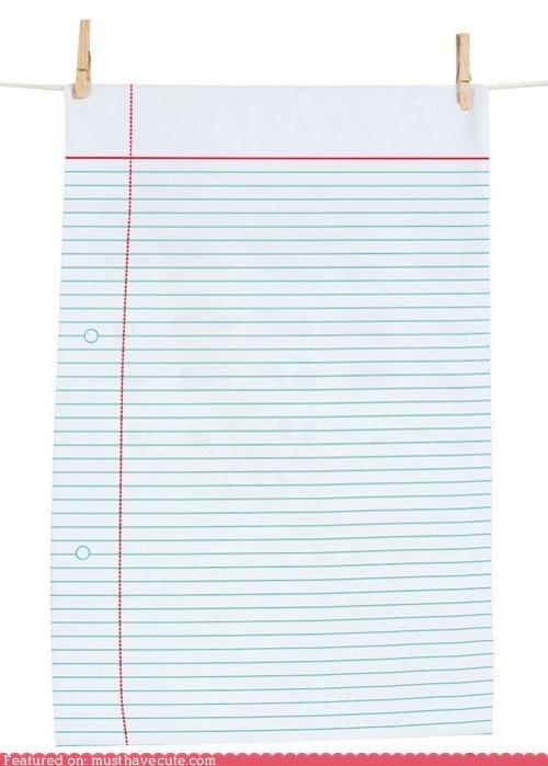 Notepaper Dishtowel