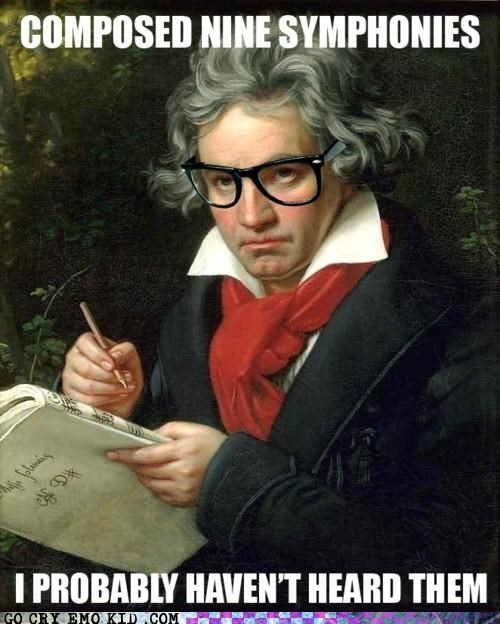 Beethoven,hipsterlulz,hipsters,symphonies