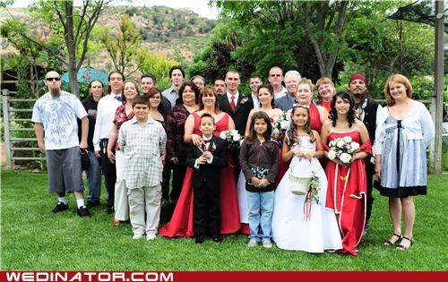 bride,family photo,funny wedding photos,groom,pirates