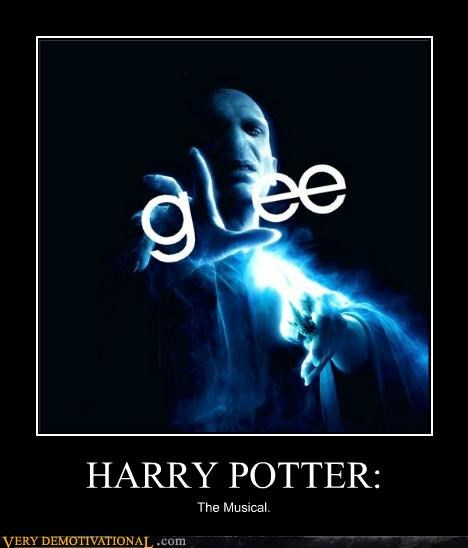 glee,Harry Potter,hilarious,musical,voldemort