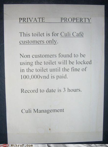 bathroom,customers only,sign