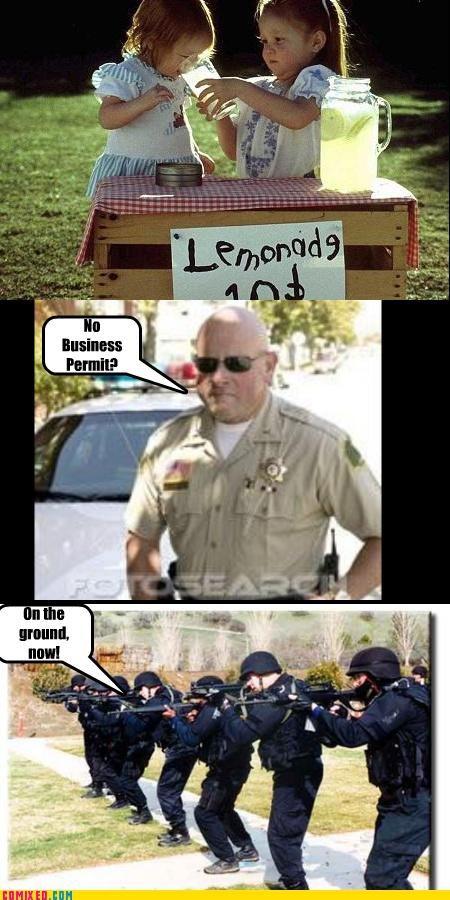 gun,kids,lemonade stand,permit,swat,the internets