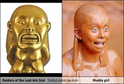 Raiders Of The Lost Ark Idol Totally Looks Like Muddy Girl