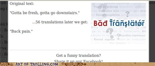 Bad Translator: Not so fresh, then.