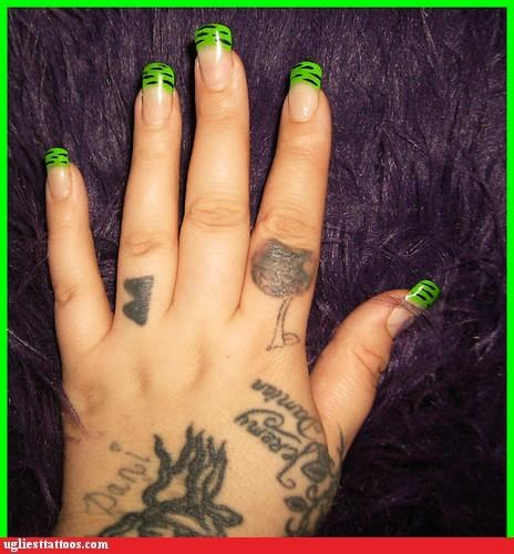 Spent More on the Nails Than the Tattoos