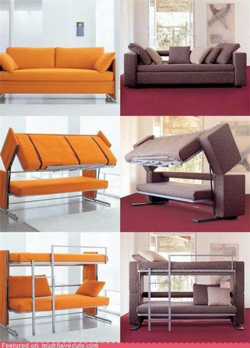 bunk bed,couch,transformers