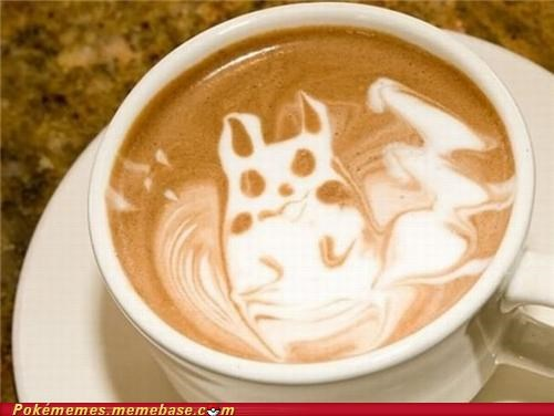 coffee,IRL,latte,pikachu