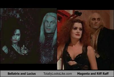 Bellatrix and Lucius Totally Looks Like Magenta and Riff Raff