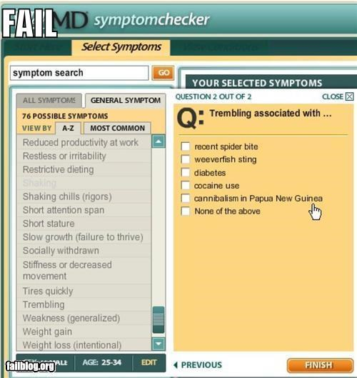 Web MD FAIL