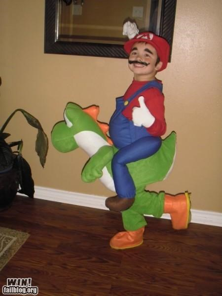 Mario and Yoshi Costume WIN