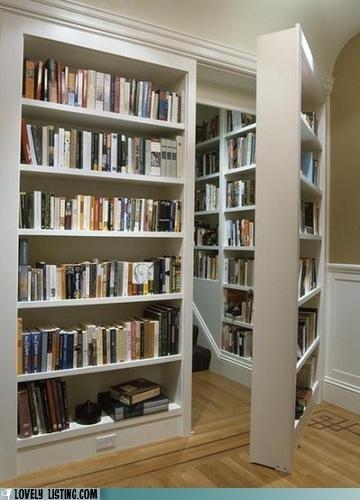 books,door,hidden,secret,shelves