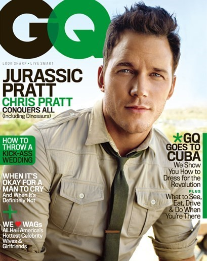 jurassic world,butt,gq,drunk,acting lessons,chris pratt,snake
