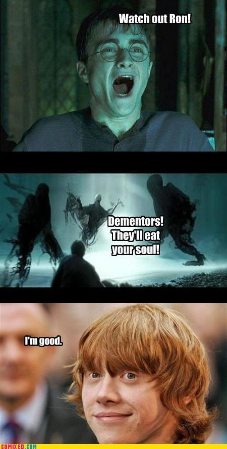dementor,Harry Potter,Ron Weasley,soul