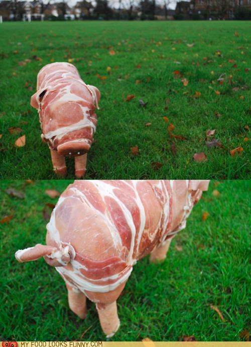bacon,pig,piglet,pork,sausage,sculpture