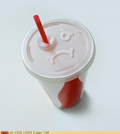 cup,eye,face,fast food,hole,lid,soda,straw