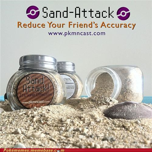 Sand Attack! Just Throw it at Your Enemies