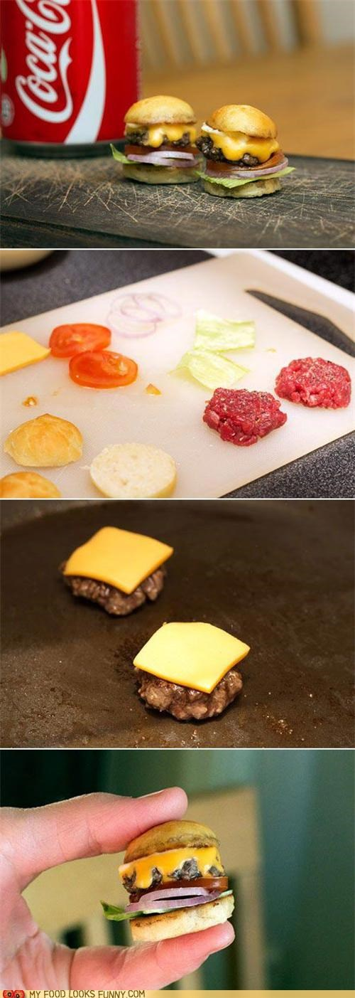 burgers,edible,miniature,sliders,tiny