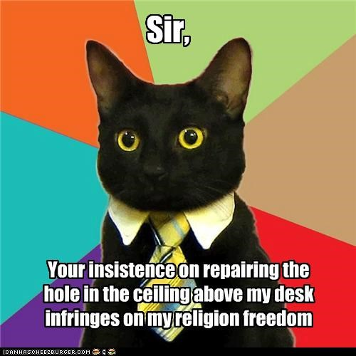 Business Cat: Keep Your Beliefs In Your Basement