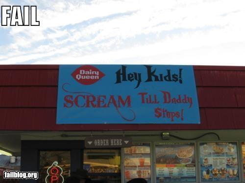 dairy queen,failboat,fast food,innuendo,signs
