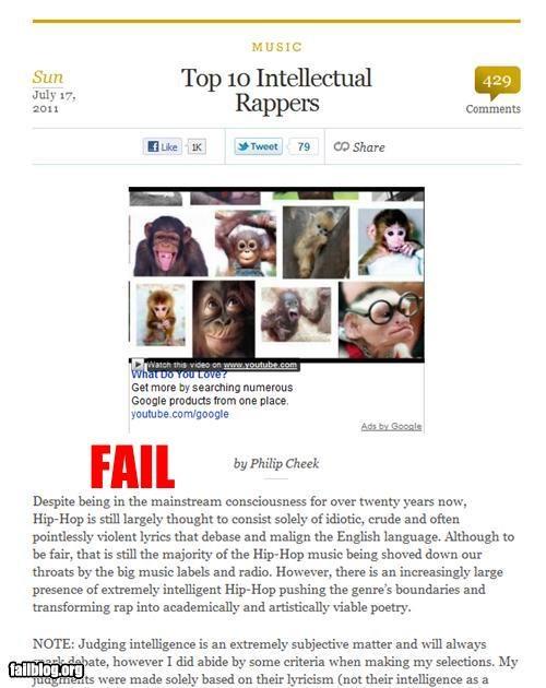 ads,failboat,g rated,internet,monkey,racism,rap