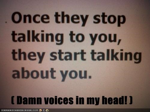 ( Damn voices in my head! )