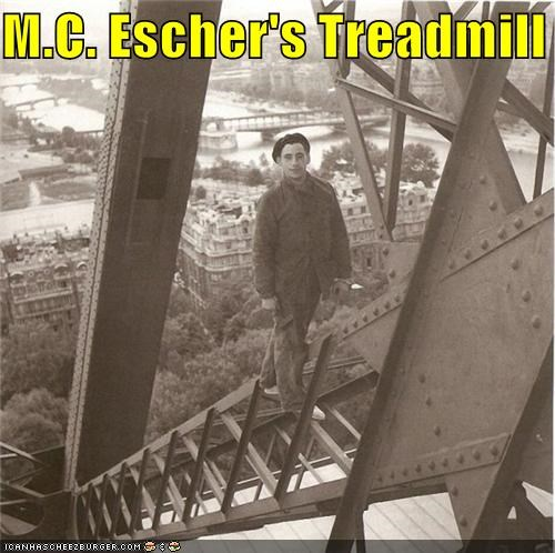 M.C. Escher's Treadmill