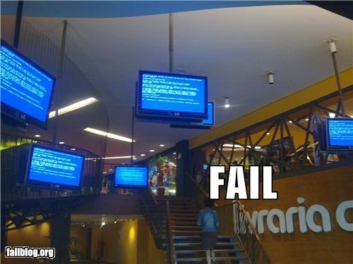 Videoscreens FAIL