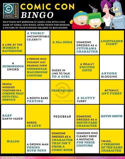 Comic Con Bingo!