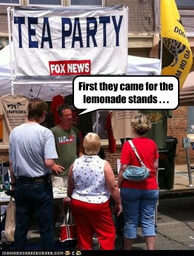 First they came for the lemonade stands . . .