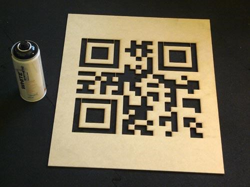 QR Code Stenciler of the Day