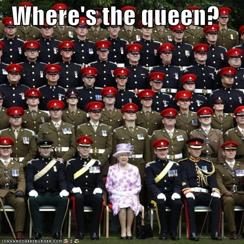 Where's the queen?