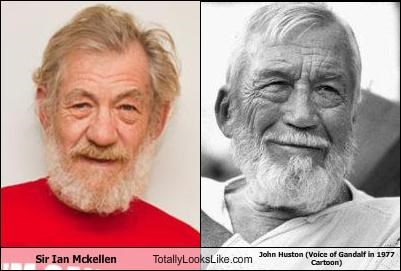 TLL Classic: Sir Ian Mckellen Totally Looks Like John Huston (Voice of Gandalf in 1977 Cartoon)