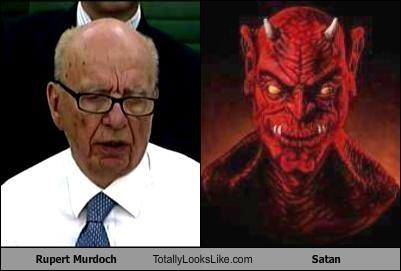 Rupert Murdoch Totally Looks Like Satan