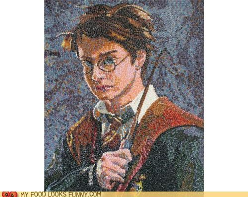 art,Harry Potter,jelly beans,mosaic,portrait