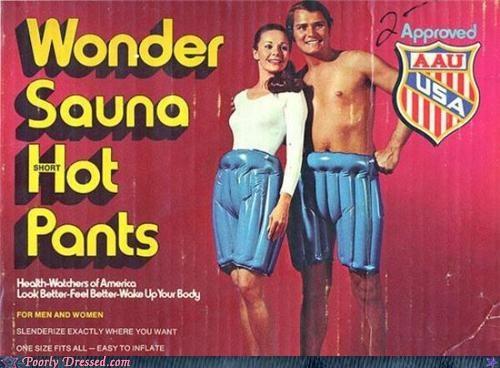 advertisement,Hall of Fame,hot pants,inflatable,pants,sauna,vintage