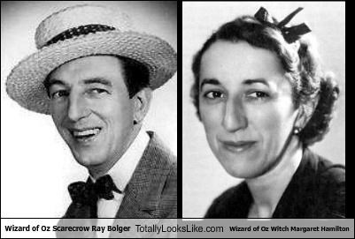 """Wizard of Oz"" Scarecrow Ray Bolger Totally Looks Like ""Wizard of Oz"" Witch Margaret Hamilton"