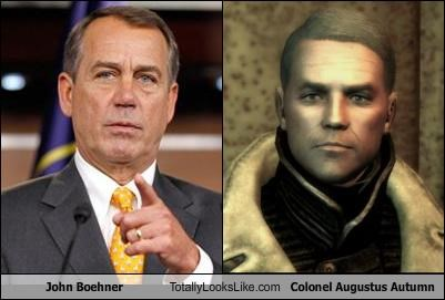 "John Boehner Totally Looks Like Colonel Augustus Autumn From ""Fallout 3"""