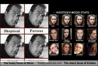 The Many Faces of Steven Seagal Totally Looks Like The Many Faces of Kristen Stewart
