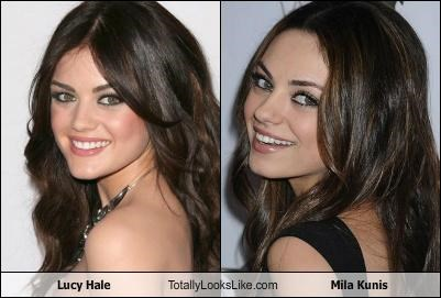 Lucy Hale Totally Looks Like Mila Kunis